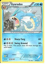 POKEMON NEGRO Y DRAGONS EXALTED-GYARADOS 24/124 WHITE Holo
