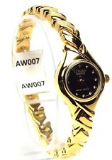 New Citizen Ladies  Gold-tone, 12 Genuine - Crystals Dress Watch 020