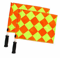 Referee Linesman Flags Rugby Soccer Hockey Football World Cup Diamond Style Flag