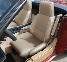 CHEVY CORVETTE C4 TYPE3 1984-1993 BEIGE S.LEATHER CUSTOM FIT SEAT COVER