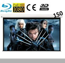 "VisuLax Electric Motorized HD 150"" TV Projector Screen with Remote  Pure16:9"