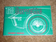 1968 Corvette Factory GM Original Owners Manual w/ Full Corvette News Card N/Mnt