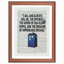 Dr Who Citation... Je suis et serai toujours... - Dictionnaire Art Imprimé Cadeau Maison