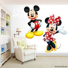 Mickey Mouse and Minnie Mouse Room Decor -  Wall Decal Removable Sticker