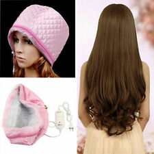 Pro Hair Thermal Treatment Hair Steamer SPA Nourishing Hair Care Cap Tools Pink