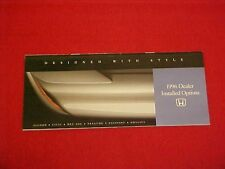 1996 HONDA ACCORD CIVIC DEL SOL PRELUDE OPTIONS ACCESSORIES ACCESSORY BROCHURE