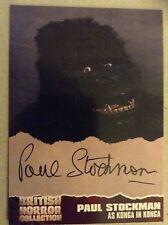 Colección de terror británica-serie uno: tarjeta autógrafo: Paul Stockman, PS3