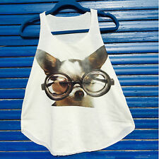 Cute Chiwawa Puppy print Ladies vest top sleeveless tank Summer collection