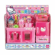 Hello Kitty Kitchen Play Set Miniature Toy Preschool Girl Role Play New