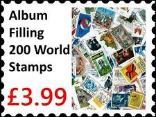 Stamp Collecting : Album filling 200 Different Mixed world stamps collection