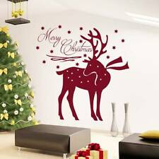 Christmas Deer Wall Decals Vinyl Stickers Decoration Holiday Home Decor SM216