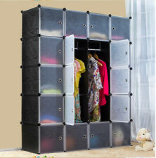 5-Tier 4-Column 14 Boxes Interlocking Cube Storage Wardrobe Clothes Organizer