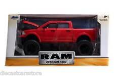 "JADA 2014 DODGE RAM 1500 PICKUP RED  OFF ROAD ""JUST TRUCKS"" 1/24 CAR 97474"