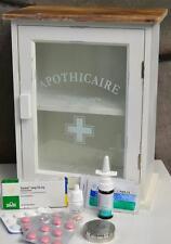 Medizinschrank Landhaus Hausapotheke Shabby Weiß Vintage Retro SP 56