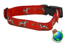 German Shorthair Pointer Dog Breed Adjustable Nylon Collar Large 12-20″ Red