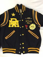 Vintage Georgia Tech Yellow Jackets Lettermen Jacket Johnny Reb 01 Wool Leather