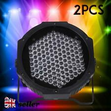 2X 127 RGB LED Stage Light DMX Par CAN DJ Disco Uplighter Lighting Effect Strobe