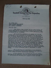 Walter Lang Director King and I 20th Century Fox Contract Letter Signed 1945
