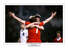 EMLYN HUGHES KENNY DALGLISH LIVERPOOL 1978 EUROPEAN CUP WINNERS PHOTO A4 PHOTO