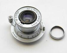 Vtg. Leitz Leica Red Scale Elmar f = 5cm 1:3.5 (50mm f/3.5) Collapsible M39 Lens
