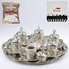 27 Pc Ottoman Turkish Greek Arabic Coffee Espresso Serving Cup Saucer-Ay Yıldız