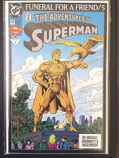 "Adventures of Superman  #499     ""Funeral for a Friend""      (1993)      VF+"