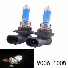 Pair 12V 100W 9006 HB4 Super Bright White Fog Halogen Bulb Car Head Lights Lamp