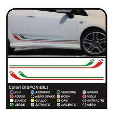 KIT ADESIVI LATERALI ITALIA PER PUNTO EVO SUPER SPORT TRICOLORE ABARTH STICKER