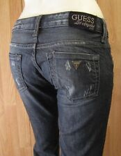AUTHENTIC GUESS JEANS FOXY FLARE LEG WOMEN JEANS SZ 24 X 29 DISTRESSED VIC-THOR1