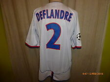"Olympique Lyon umbro CL. matchworn maillot 03/04 ""renault"" + Nº 2 Deflandre taille xl"