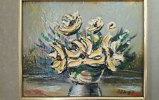 "ORIGINAL HEAVY IMPASTO OIL PAINTING ""FLORALS IMPASTO"" BY HUNGARIAN ARTIST MARC"