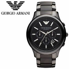 *NEW* EMPORIO ARMANI AR1451 BLACK CERAMIC CHRONOGRAPH MEN'S WATCH - RRP £349.00