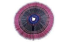 Fair Trade Blue Hmong Batik,Applique, Embroidered Skirt, Original, Before 2000