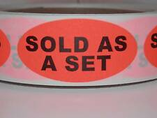 SOLD AS A SET THIS IS A SET FBA Warning Stickers Labels  red fluorescent 500/rl