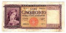 Italie ITALY ITALIA Billet 500 LIRE 1947  P80a BON ETAT