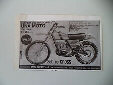 advertising Pubblicità 1975 MOTO VILLA 250 CROSS
