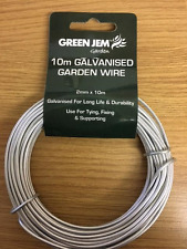 10M GARDEN WIRE 2MM GALVANISED USE FOR TYING FIXING CLIMBING PLANTS AND SHRUBS