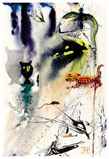 Alices Adventures in Wonderland 3 A2 by Salvador Dali High Quality Canvas Print