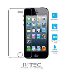 PREMIUM iPhone 5S 5C 5 Real Tempered Glass Easy Fit Clear Screen Protector