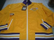 MENS LA LAKERS MITCHELL & NESS WARM UP TRACK JACKET XL GOLD/PURPLE $150 NWT