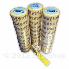 26mm X 12mm Price Marking Gun Labels, CT4 Motex,  Yellow With Peelable Adhesive