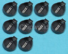 10PCS CR2025 CR2032 Button Coin Cell Battery Socket Holder Case Black Color DE