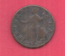 Gb Uk Britain Km566 1737 George Ii 1/2 Penny Ag-Nice Old Coin Free Us Shipping