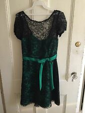 Alfred Angelo Dress Size 4 Black And Emerald Green NEW Prom Bridesmaids