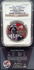 2011 Niue Colorized Star Wars 1oz Silver NGC PF-70 UCAM - Darth Vader