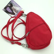 AmeriBag Heathy Back Red Microfiber Baglett Small Mini Purse Crossbody Bag