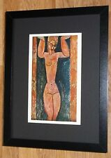Framed 12''x16'', Modigliani, Caryatid, masters paintings, Rare prints