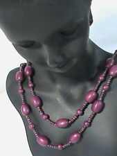 Long 52 inch Plum…Lavender Beaded Necklace