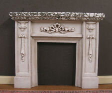 FIREPLACE ~ Marble Finish ~ Distressed ~ Dollhouse Mini ~ 1:12 scale ~ Room Box
