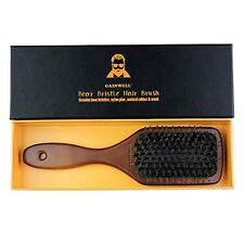 Natural Boar Bristle Paddle Hair Brush – 100% Boar Bristle with Wooden Handle –